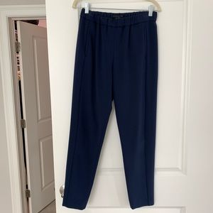 Theory navy pull on pants